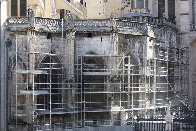 Andamio Catedral de Burgos